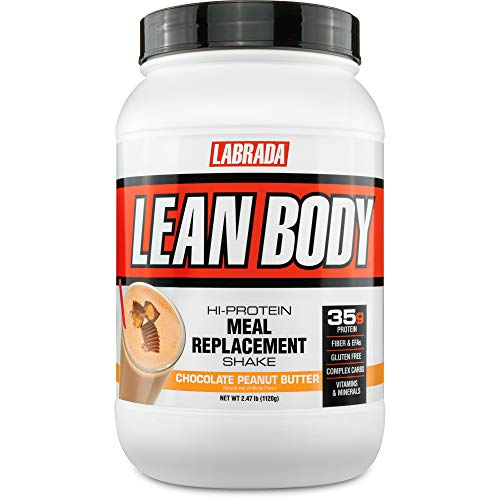 LABRADA NUTRITION Lean Body High Protein Meal Replacement Shake Chocolate Peanut Butter 2.47 lb