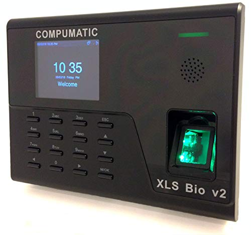 (Compumatic XLS Bio v2 Biometric Fingerprint Time Clock System, WiFi, CompuTime101 Software Included, 0 NO Monthly Fees!!)
