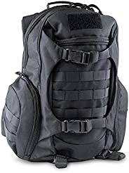 [NEW 2021] 72HRS Tactical Molle Bag Rucksack Pack Backpack 50 Liter 3 Day Large Capacity Military for Hiking,