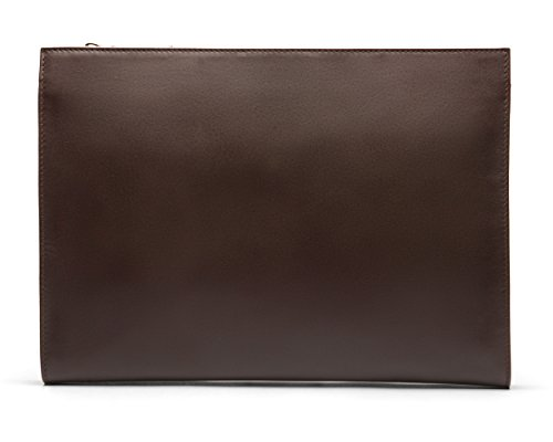 SAGEBROWN Brown Zip Top Leather Folder by Sage Brown (Image #1)