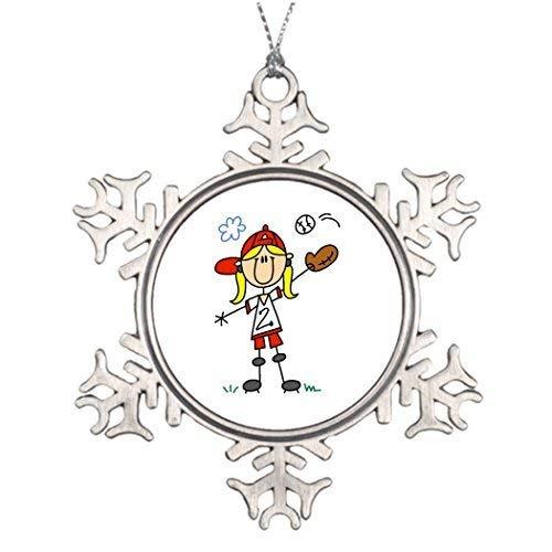Acove Ideas for Decorating Christmas Trees Girl Playing Softball Star Christmas Snowflake Ornaments 3 inch