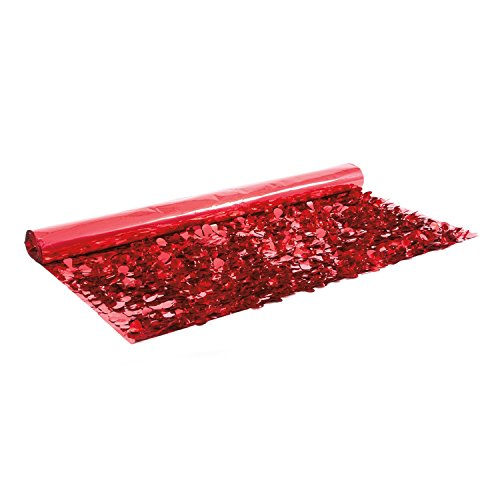 Victory Corps Red Metallic Floral Sheeting from Victory Corps