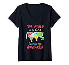This funny ,The world is a cat playing with Australia graphic illustration is a great birthday gift for cat moms and cat dads and all who love fluffy baby cats, traveling and geography. This awesome design shows a world map kitty and is perfe...