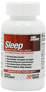 Top Secret Nutrition Sleep Formula Quick Melt Tablets, 30 Count