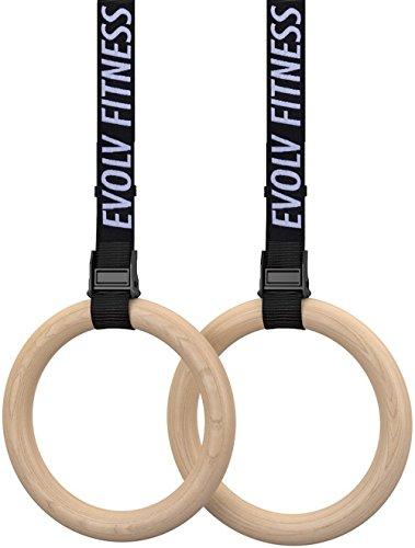 EVOLV FITNESS Gymnastics Rings Set 1.1
