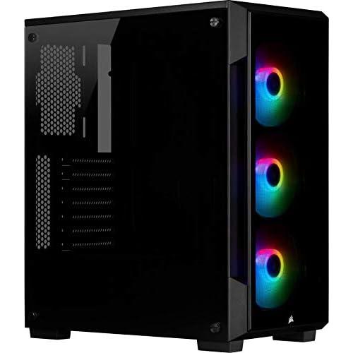 chollos oferta descuentos barato Corsair iCUE 220T RGB Chasis Semitorre Inteligente ATX con Cristal Templado Color Negro
