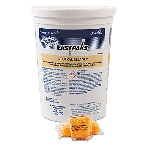 Easy Paks 990653 Neutral Cleaner .5oz Packet 90/Tub 2 Tubs/Carton ()