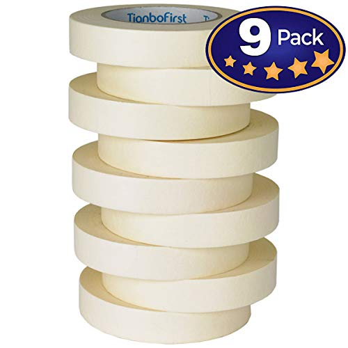 General Purpose Roll - General Purpose Masking Tape for Home and Office, 0.94-Inch x 60 Yards, 9 Rolls by TIANBO FIRST