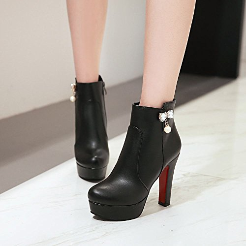 Dress Platform Dress Black High Booties Booties Latasa Heel High Platform Black Womens Womens Latasa Latasa Heel FwOxwqAfB
