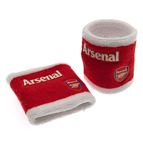 Arsenal FC Official Wristbands (Set Of 2) (One Size) (Red)