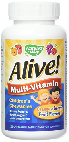 Alive! Children's Multi-Vitamin Chewable - 120 Chewable Tablets by Nature's Way