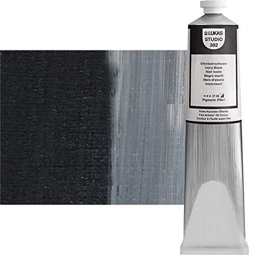 LUKAS Studio Oil Color 200 ml Tube - Ivory Black