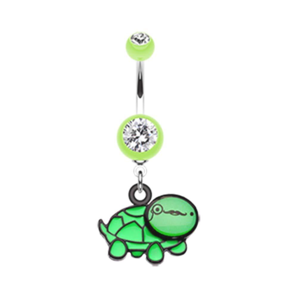 Davana Enterprises 14 GA Sherlock Turtle Dangle Belly Button Ring