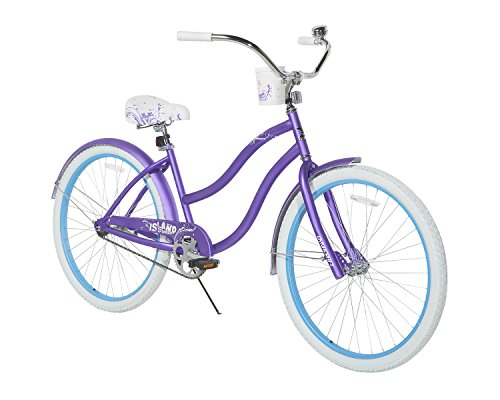 Dynacraft Women's Island Breeze Cruiser Bike, Purple/White/Blue, 26