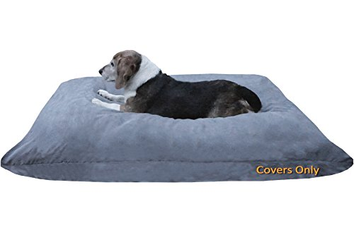 Do It Yourself DIY Pet Bed Pillow Duvet Suede Cover + Waterproof Internal case for Dog / Cat at Medium 36