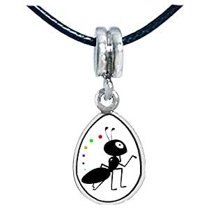 Chicforest Silver Plated Happy Lovely Ant Photo Angel Tears Charm Beads Fits Pandora Charm Bracelet