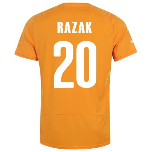 PUMA RAZAK #20 IVORY COAST HOME JERSEY WORLD CUP 2014 (2XL)