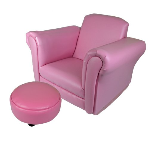 KIDS ROCKING CHAIR SOFA SET FOOT REST CHILDRENS ARMCHAIR RELAX PINK SEAT  LEATHER NEW: Amazon.co.uk: Kitchen U0026 Home