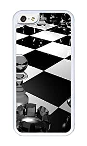 iPhone 5C Case,VUTTOO Stylish 3D Glass Chess Soft Case For Apple iPhone 5C - TPU White