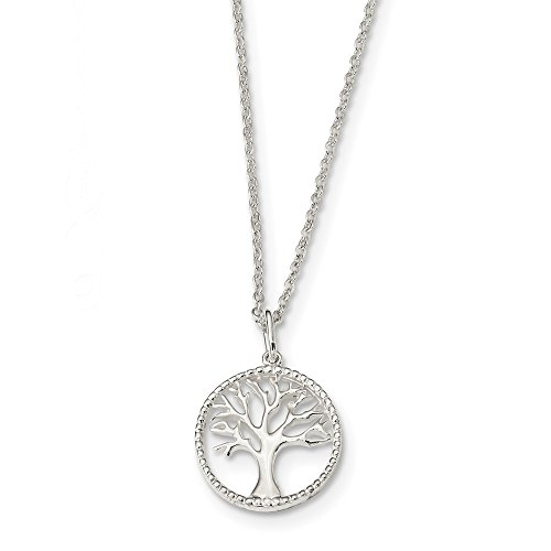 - 925 Sterling Silver Tree Of Life Chain Necklace Pendant Charm Leaf Fine Jewelry Gifts For Women For Her