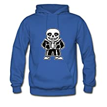 GGgirl Men's Comfortable Royal blue Undertale Sans Pixel Texture Hoodies Large