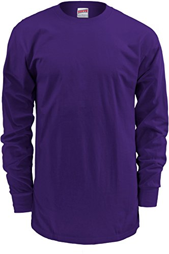 Soffe Men's Midweight Cotton Long Sleeve Shirt (XXL, Purple) from Soffe