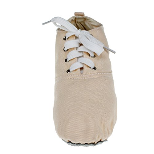 Zapatillas De Deporte De Danza Del Ballet Low Heel Canvas De Womans Natural