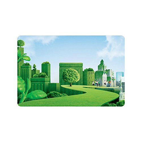 Jim Store Custom Green Tree House Parkway Doormat Floor Mat Absorbent Mats Bathroom Bedroom Living Room Kitchen Doormat23.6inch X 15.7inch - Stores Parkway