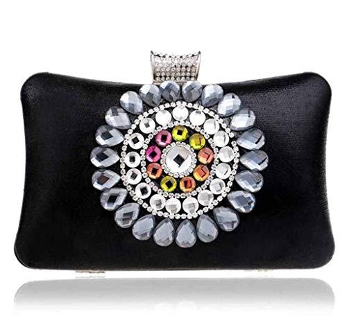 Ladies ' Con Cena Diamante blue Vestito Black Strass Borsa Partito Borsa Borsetta 44Fq1xpdwr