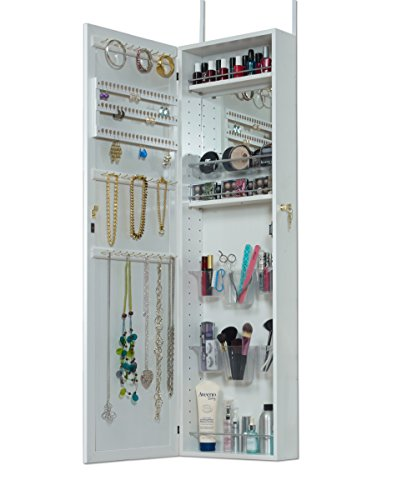 Mirrotek Over The Door Combination Jewelry and Makeup Armoire, White by Mirrotek (Image #1)'