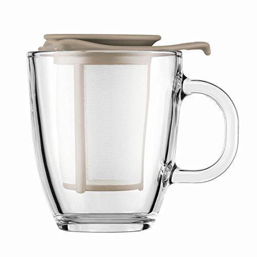 Bodum Yo Yo - Mug and Tea Strainer Set - 0.35l/12oz - Sand 133 - Bodum Teacups