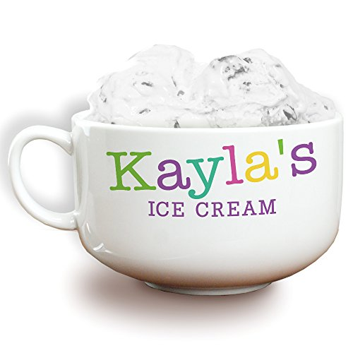 GiftsForYouNow Colorful Names Personalized Ice Cream Bowl, Girl]()