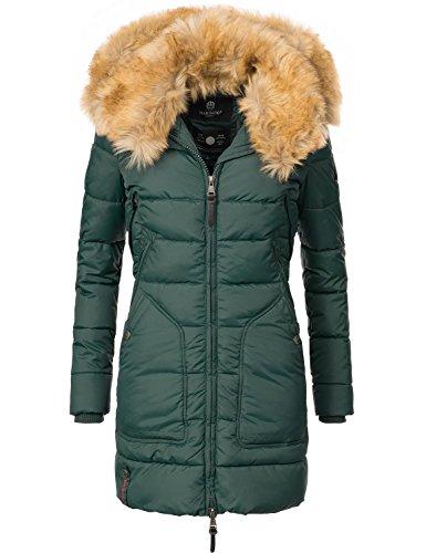 Verde 9 xxl De Pelo Guateado Abrigo Invierno Sintético Extralargo Para Marikoo Con Mujer Xs Capucha Colores Knuddelmaus qxwZ7SW