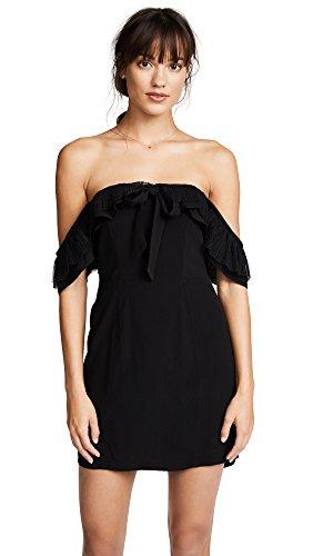 For Love & Lemons Women's Claire Off Shoulder Dress, Black, X-Small by For Love & Lemons (Image #1)