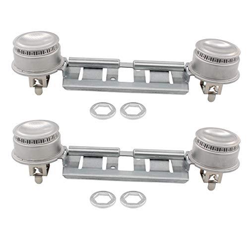 ApplianPar 2 Pack WB16K10026 Double Burner Assembly Kit for GE Kenmore Replaces AP2633210 WB29K17 WB16K10003