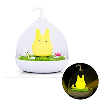 Best Cheap Deal for Geekercity Cute Baby Night Lights Hand-held Design Touch Sensor Vibration Cage Lamp Night Light Rechargeable Totoro Touch Sensor USB Light for Baby Child Bedroom Sleep Lighting Art Decor by Geekercity - Free 2 Day Shipping Available