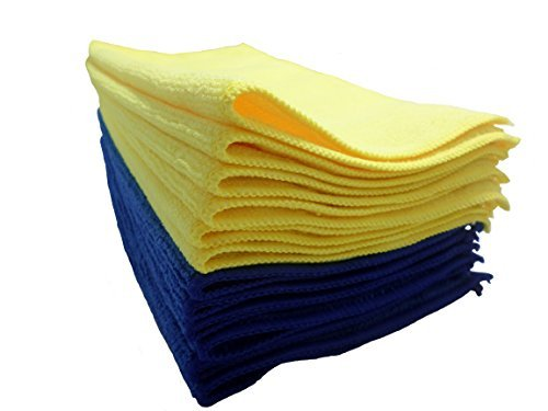 Microfiber Cleaning Cloth 12 Pack 12'x12' Extra Soft and No Washing Labels to Prevent Scratching Ideal for Furniture, Cars, Electronics, Computers and Televisions ABP Digital A00003