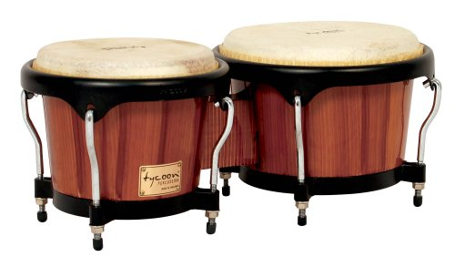 Tycoon Percussion 7 Inch & 8 1/2 Inch Artist Series Hand Painted Bongos - Brown Finish by Tycoon Percussion