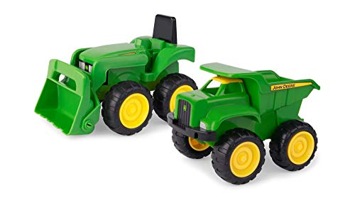 Johnny Tractor Preschool Range - Mini Sandbox Tractor and Dump Truck Set - Suitable from 18 Months (Johnny Tractor Puzzle)