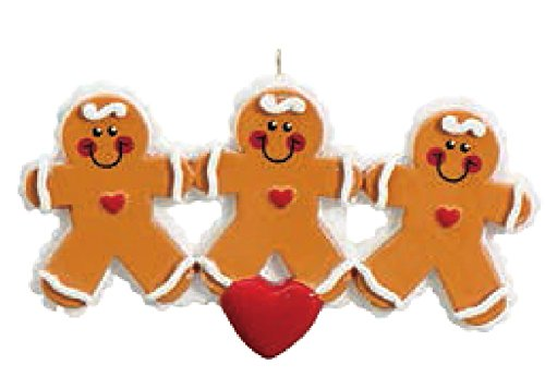 Gingerbread Family 3 Personalized Christmas Tree ()