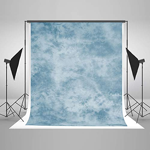 Kate 5x7ft Blue Photography Backdrop Light Blue Textures Portrait Background Old Master Photo Backdrops
