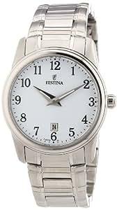 Festina F16379/1 - Reloj analógico de cuarzo para mujer con correa de acero inoxidable, color plateado