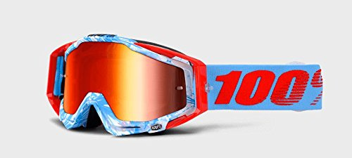 100% - Masque 100% Racecraft Bobora Ecran Miroir Rouge Unicolor
