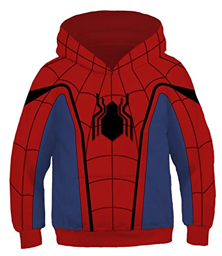 Riekinc Kids Superhero Costume Long Sleeve Hoodie Sweatshirts