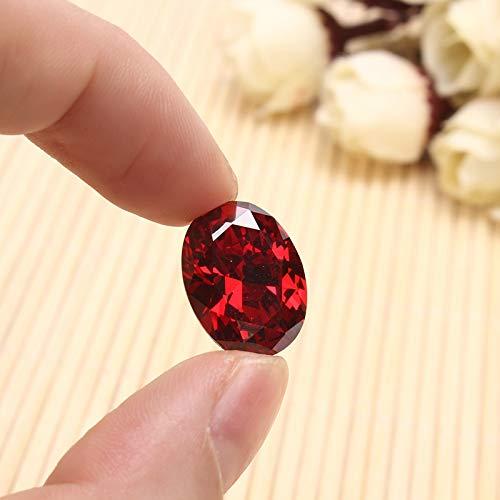 Crafts Diy - Promotion 13.89ct Blood Red Ruby Unheated 12x16mm Diamond Oval Cut Loose Gemstone Diy Jewelry - Crafts Kits Decoration Craft Jewelry ()