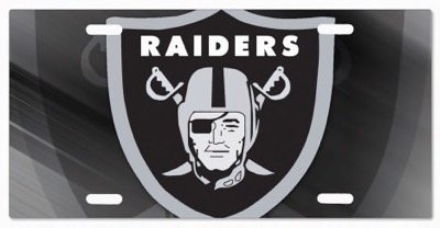LA Raiders NFL Vanity License Plates 0092145024980