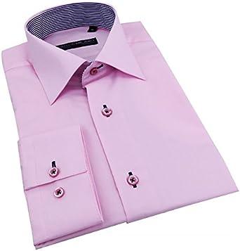 Camisa para hombre Cintrée color rosa con coderas – L: Amazon ...
