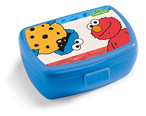 "NICI 41872 Elmo Cookie Monster Sesame Street Sandwich Lunch Box and 5/8 ""x 6.8 cm"