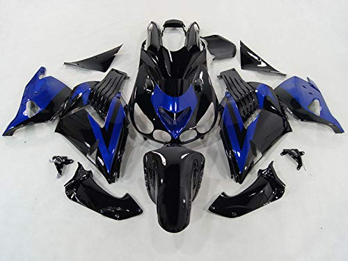 Amazon.com: Moto Onfire Blue Black ABS Injection Molded ...