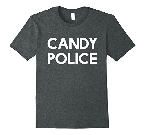 Mens Candy Police Funny Shirt Mom or Dad - Halloween Costume Tee 2XL Dark (Halloween Costumes For Moms And Dads)